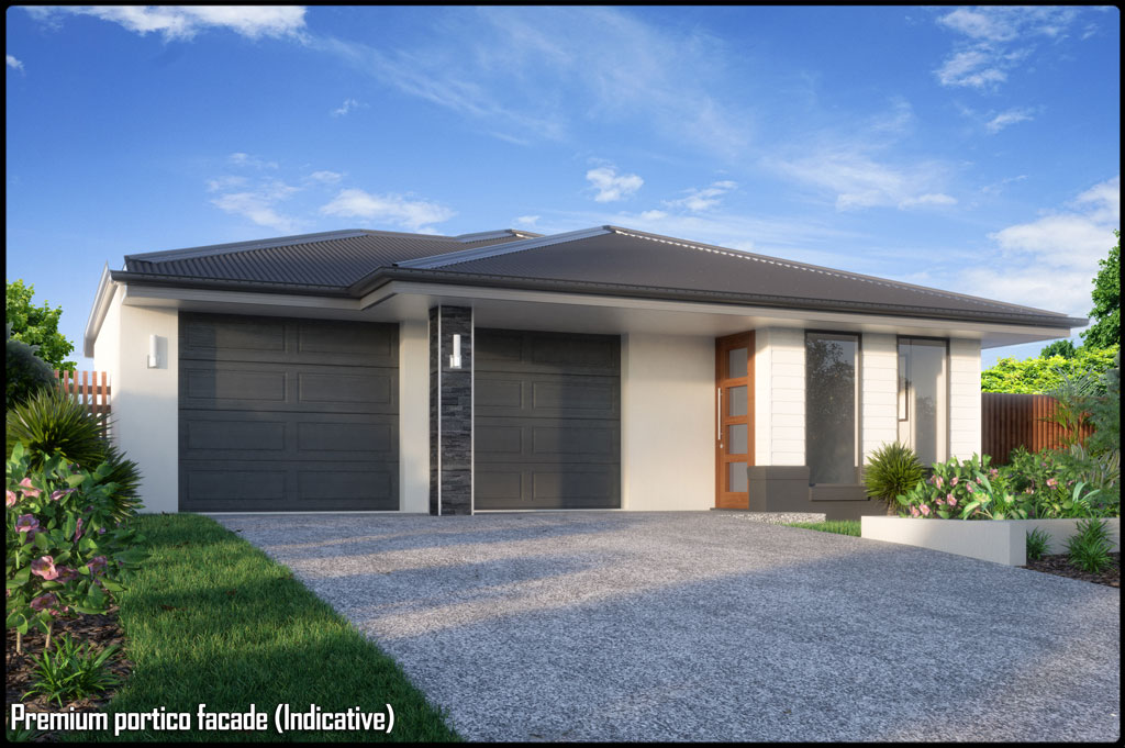 New house construction gold coast for Single storey duplex designs